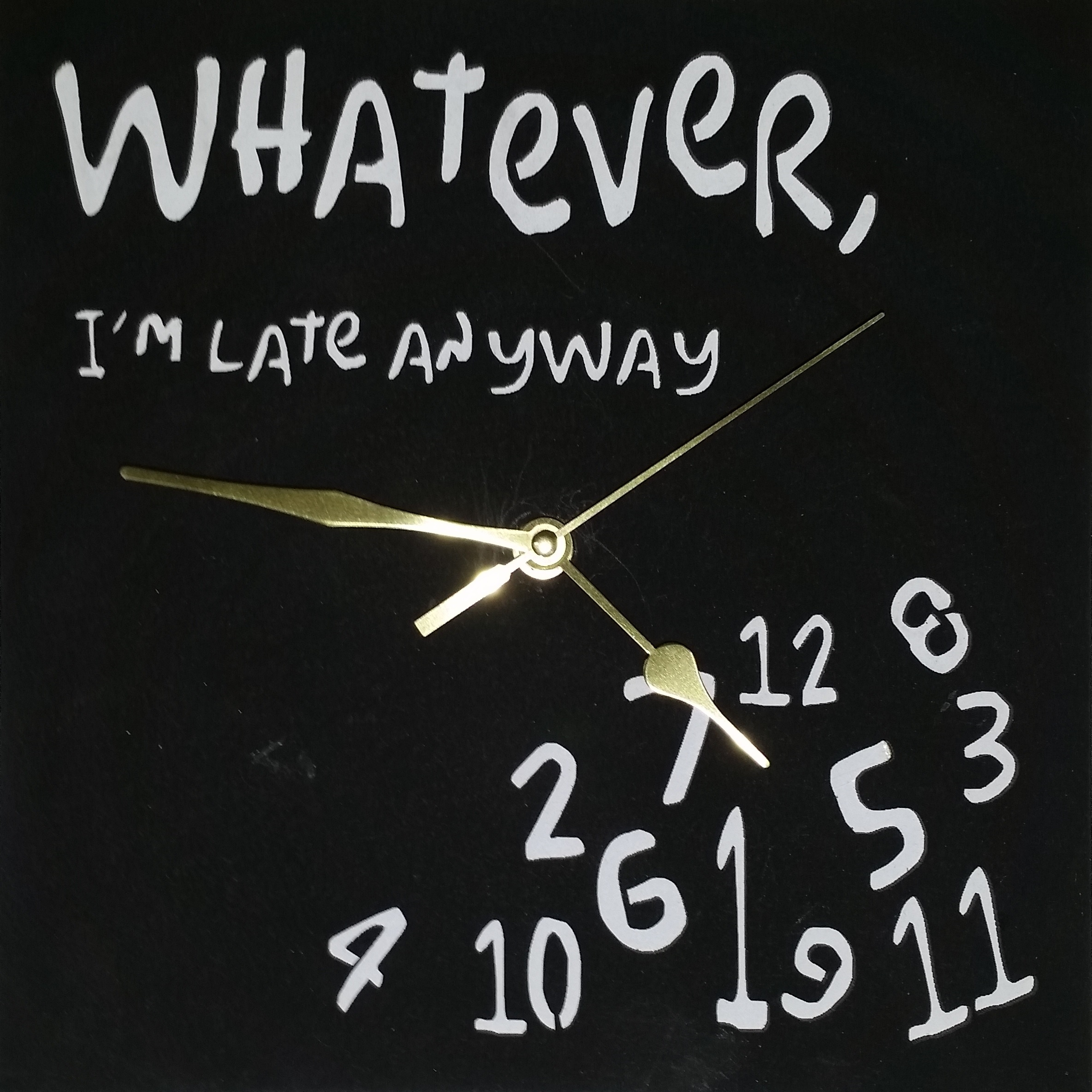 Wooden Whatever Clock