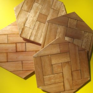 Coaster - Wood Hexagon