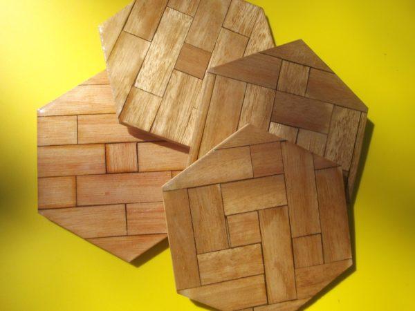Coaster - Wood Hexagon