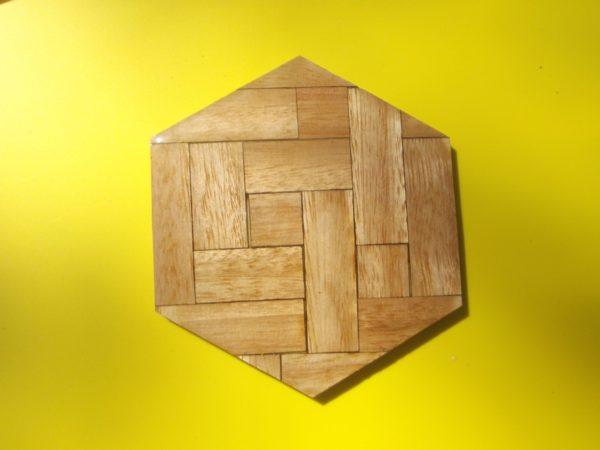 Coaster - Wood Hexagon Eucalypt