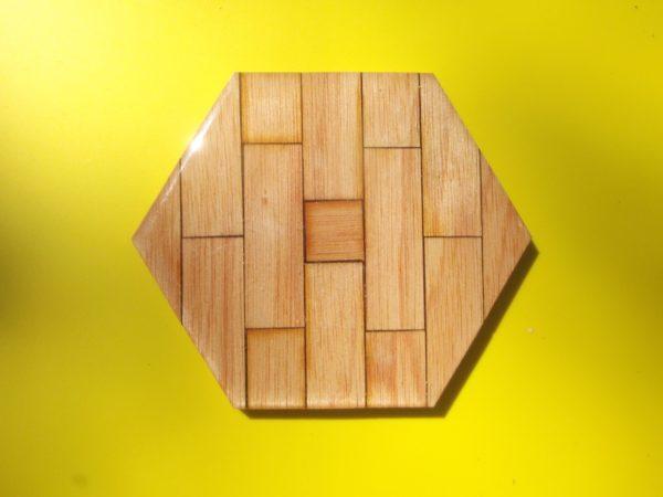 Coaster - Wood Hexagon - Fijian Cedar