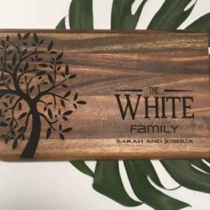 personalised customised rectangular chopping board