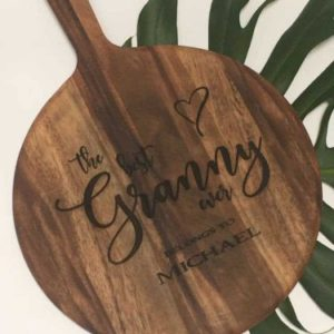 chopping board round personalised customised