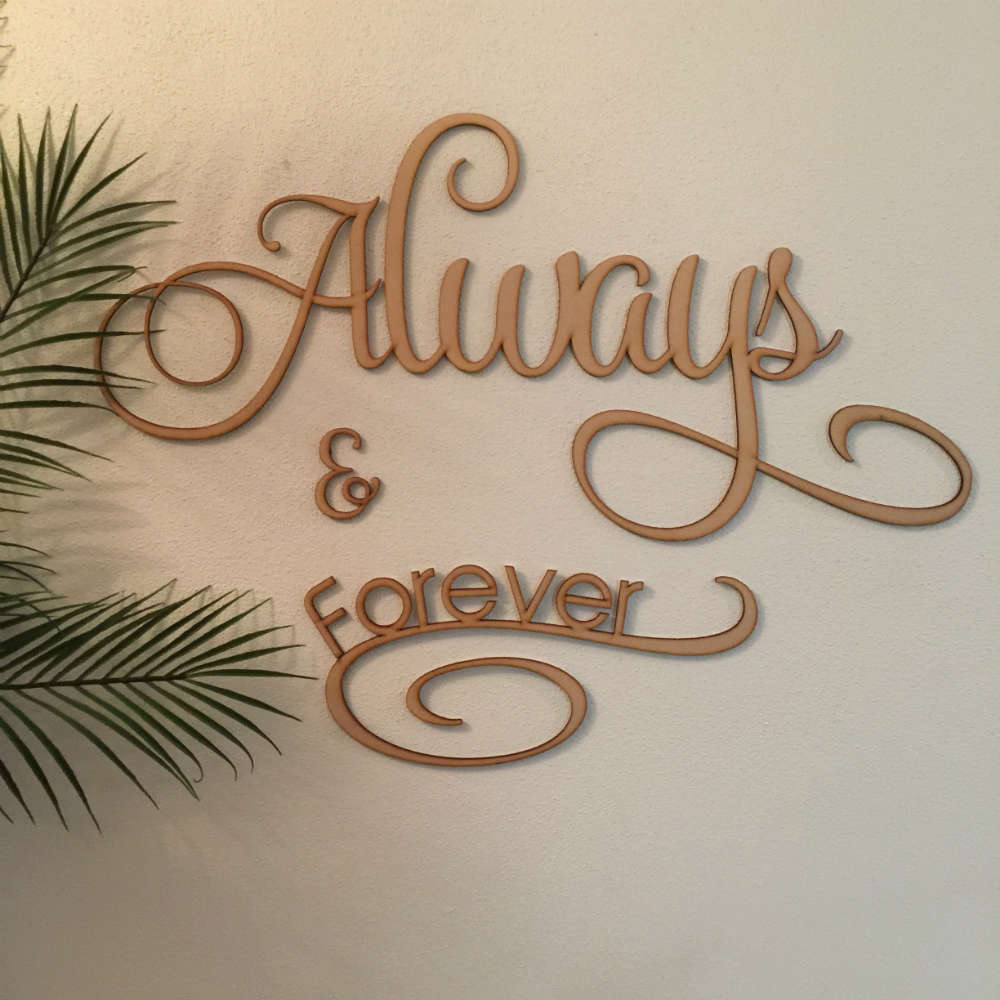 Always And Forever Wall Sign