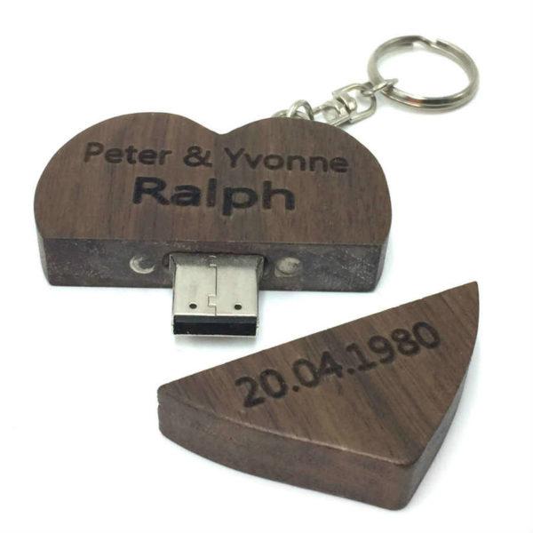 heart USB customised personalised