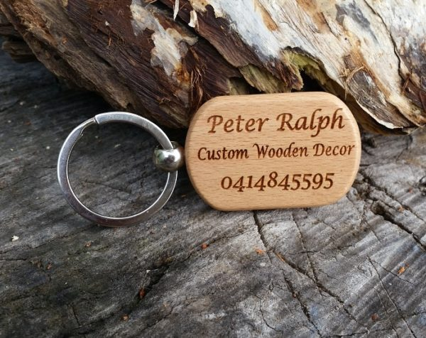 Customised Keychain wooden tag